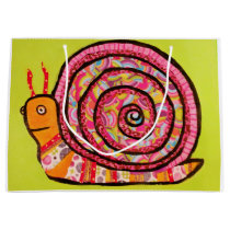 Custom Large Gift Bag with the Cute Snail