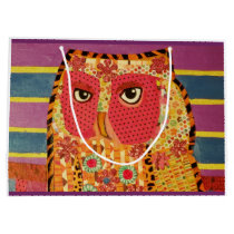 Custom Large Gift Bag with Wise Owl