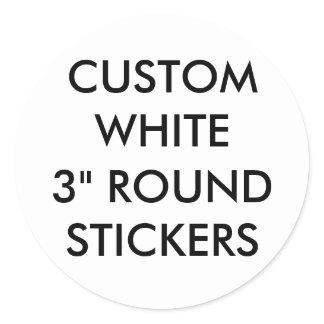 "Custom Large Glossy 3"" Round Stickers"