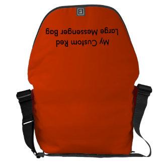 Custom Large Messenger Bag - Red