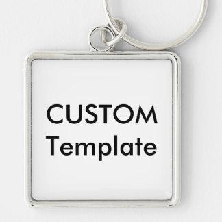 Custom Large Premium Square Keychain Key Ring