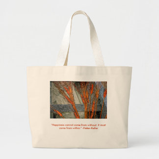 Custom Large Tote Bag with Helen Keller Quote