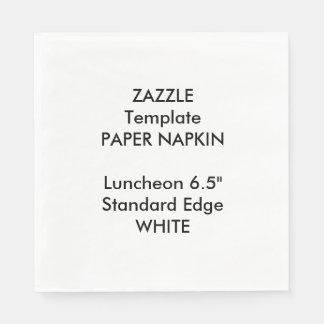 Custom Large WHITE Luncheon Paper Napkin Template