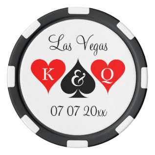 Custom Las Vegas Wedding Party Favor Poker Chips at Zazzle
