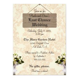 Custom Last Chance Wedding Invitations