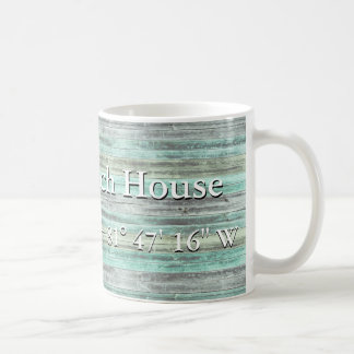 Custom Lattitude And Longitude Coastal Decor Coffee Mug