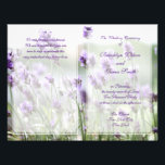 "Custom Lavender Bohemian Wedding Programs Flyer<br><div class=""desc"">Custom lavender wedding ceremony program flyer with customizable purple text</div>"
