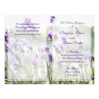 Custom Lavender Bohemian Wedding Programs Flyer