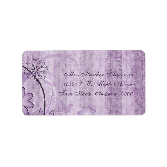 Custom Lavender Floral Wedding Address Labels