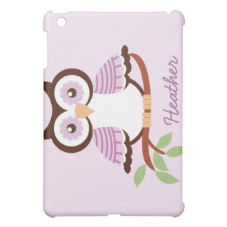 Custom Lavender Owl Speck iPad 1 Hard Case iPad Mini Case