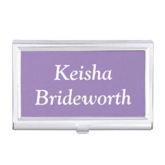Custom Lavender Purple Contemporary Colorful Business Card Holder