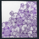 "Custom lavender purple watercolor floral lace cloth napkin<br><div class=""desc"">An original,  modern lavender purple watercolor illustration of a hand drawn  floral lace with swirls and flourish. The background color is fully customizable</div>"