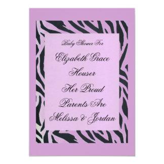 Custom Lavender Zebra Stripe Party Invitation