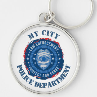 Custom Law Enforcement Badge Keychain