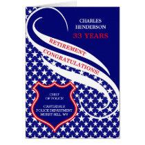 Custom Law Enforcement Retirement Congratulations Card