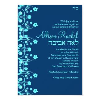 Custom Lea Aviva Allison Flowers Blue 036 Card