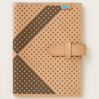 Custom Leather Journal Black and White Polkadots