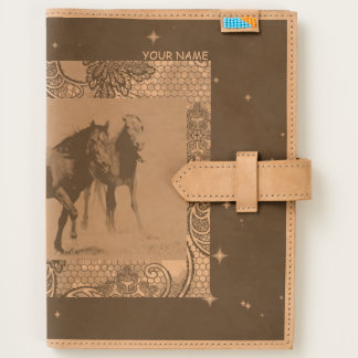 Custom Leather Journal,PERSONALIZABLE, WILD HORSES Journal