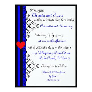 Custom Leather Pride LGBT Commitment Ceremony 6.5x8.75 Paper Invitation Card