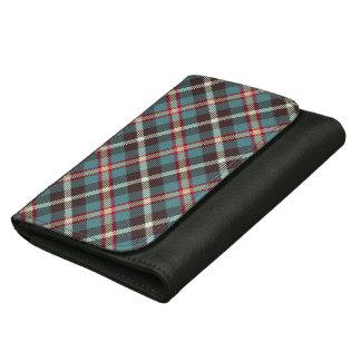 Custom Leather Wallet Tartan Pattern
