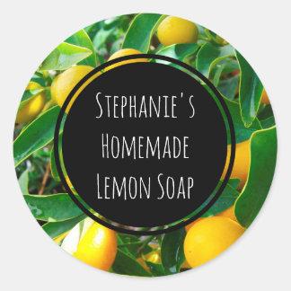 Custom Lemon Fragrance Bottle Jar Garden Label