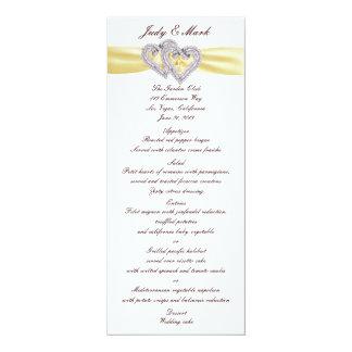 Custom Lemon Hearts Menu Card