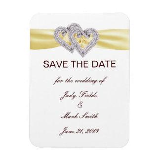 Custom Lemon Hearts Save The Date Magnet