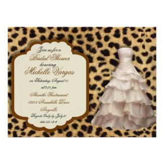 Custom Leopard Print Bridal Shower Invitations