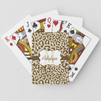 Custom Leopard Print Brown Tan Peach Cards