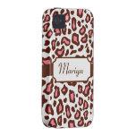 Custom Leopard Print  iPhone 4 Case-Mate