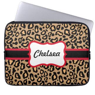 Custom Leopard Print Laptop Sleeve Gift