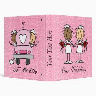 Custom Lesbian Wedding Album 3 Ring Binder