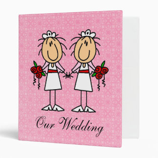 Custom Lesbian Wedding Album Vinyl Binders