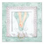 "Custom Lesbian Wedding Invitations 5.25"" Square Invitation Card"