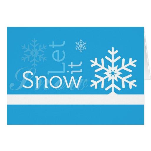 custom let it snow card