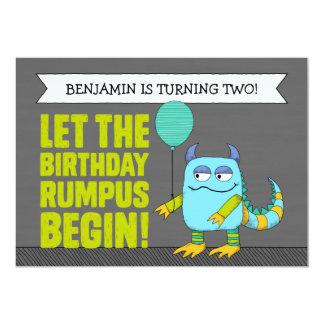 "CUSTOM Let The Birthday Rumpus Begin! Invitations 5"" X 7"" Invitation Card"