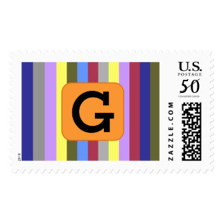 Custom Letter Bold Stripes Stamps