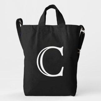 Custom Letter C Initial Monogram BAGGU Duck Bag