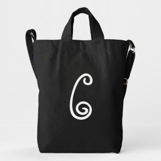 Custom Letter C Monogram BAGGU Duck Bag