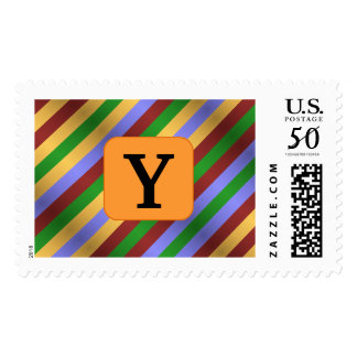 Custom Letter Fun Stripes Stamps
