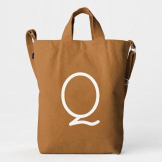 Custom Letter Q Initial Monogram BAGGU Duck Bag