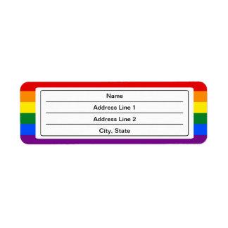 Custom LGBT flag Address Labels