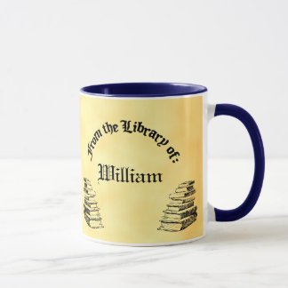 "Custom ""Library of"" Book Reading Mug"
