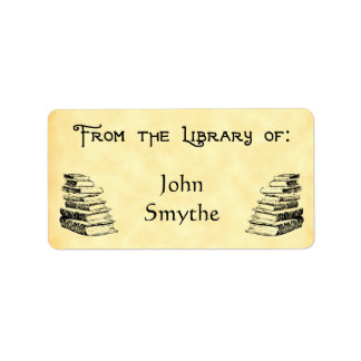 "Custom ""Library Of"" Vintage Books Tag"