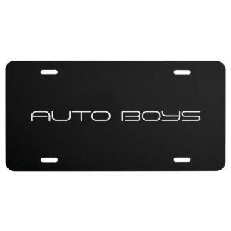 Custom License Plate - Add Your Text Black