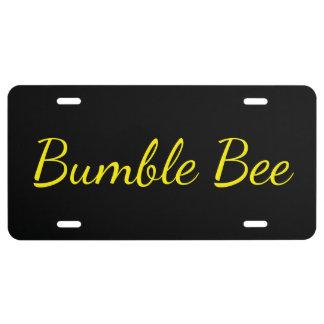 Custom License Plate - Bumble Bee