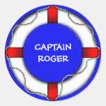 Custom Life Preserver Classic Round Sticker