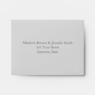 Custom Light & Dark Gray Envelope with Address Envelope