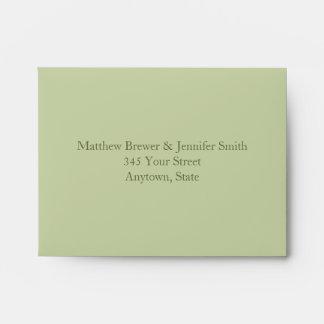 Custom Light & Dark Green Envelope with Address