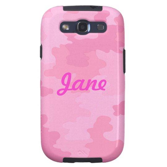 Custom Light Pink Camouflage Samsung Galaxy Case